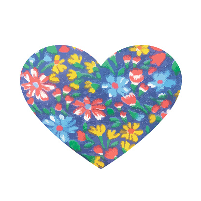 illustration of beautiful hand drawn flowers and plants in heart best for Valentines's Day, Wedding and Birthday design.