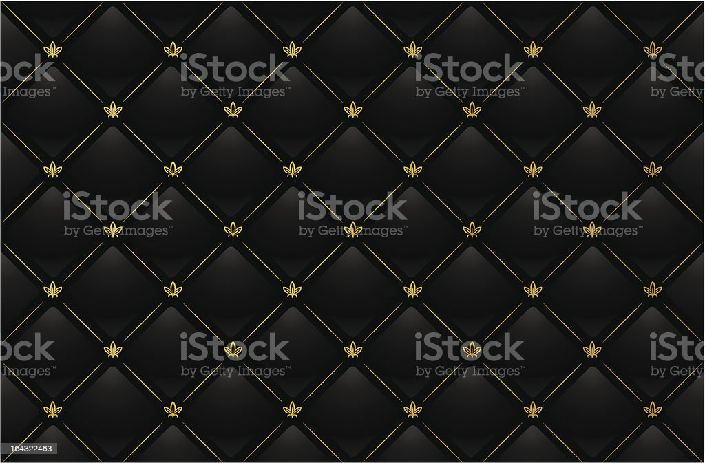 Illustration of black leather background royalty-free stock vector art