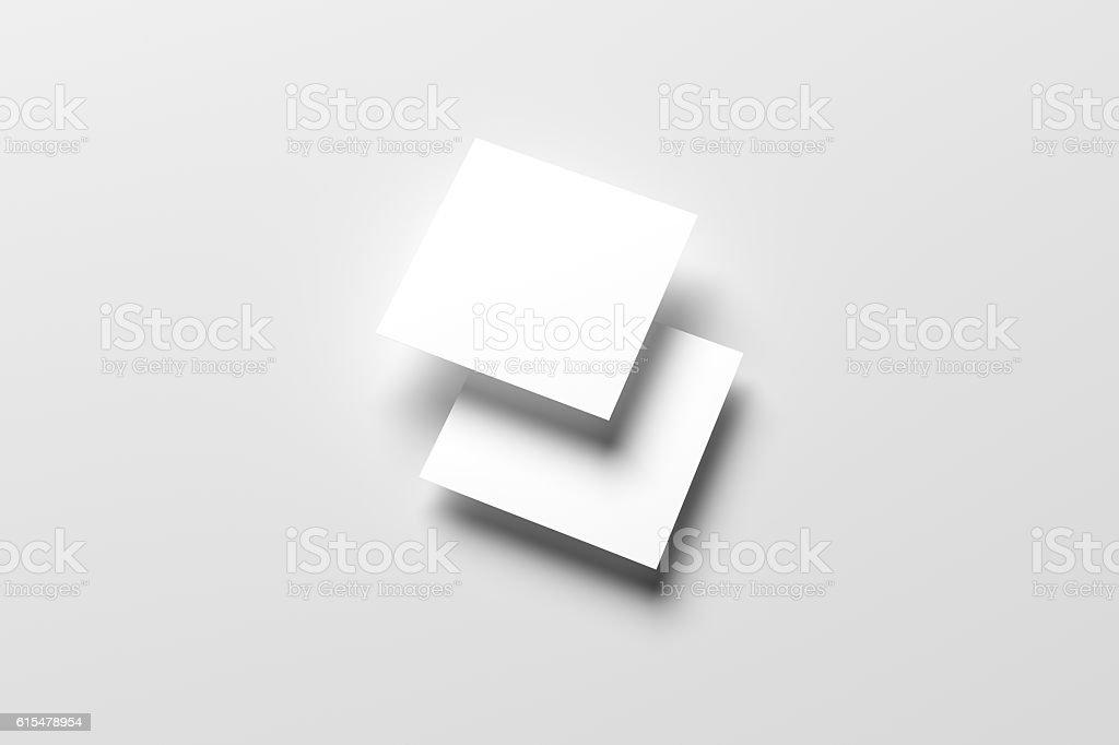 3d Illustration Of Blank Square Flyer Mockup Stock Vector Art More
