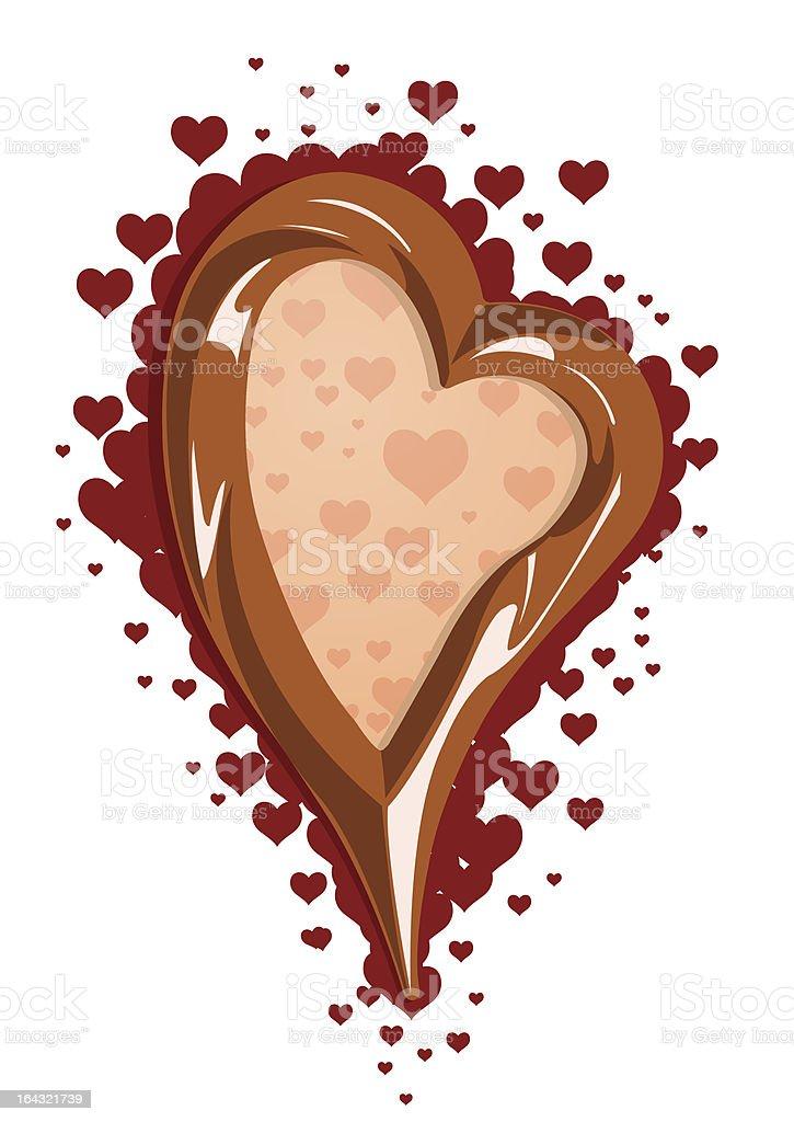 Illustration of chocolate heart frame royalty-free stock vector art