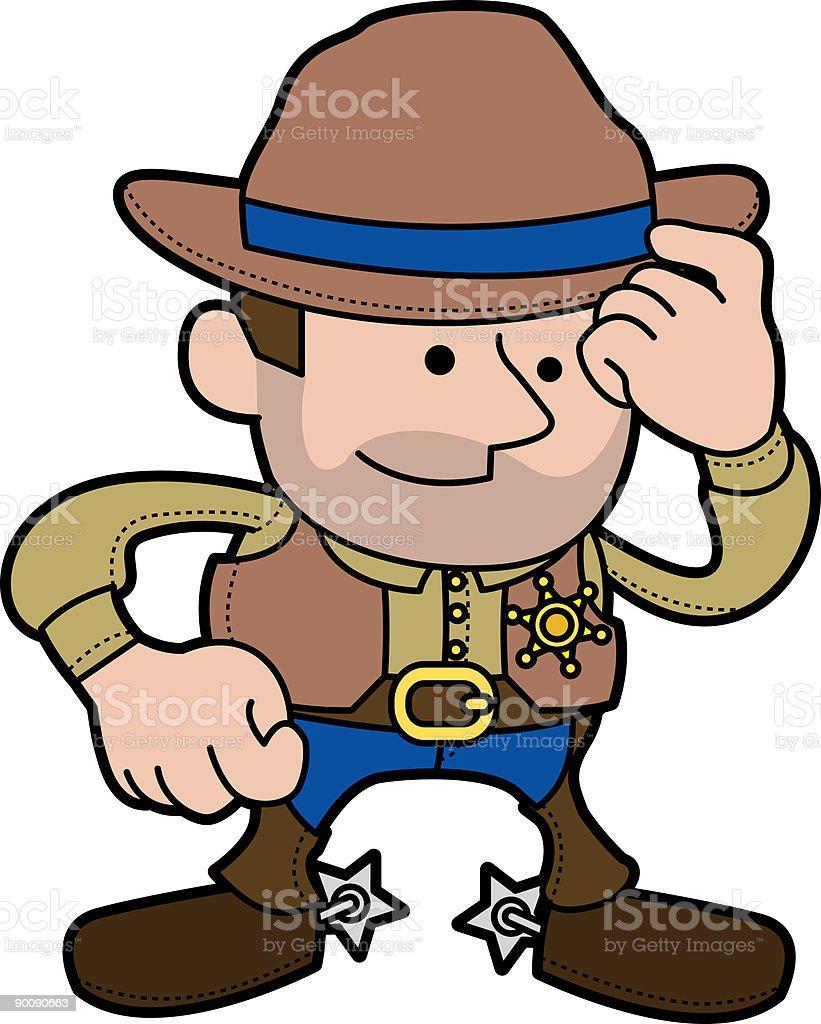 Illustration of cowboy sheriff royalty-free stock vector art