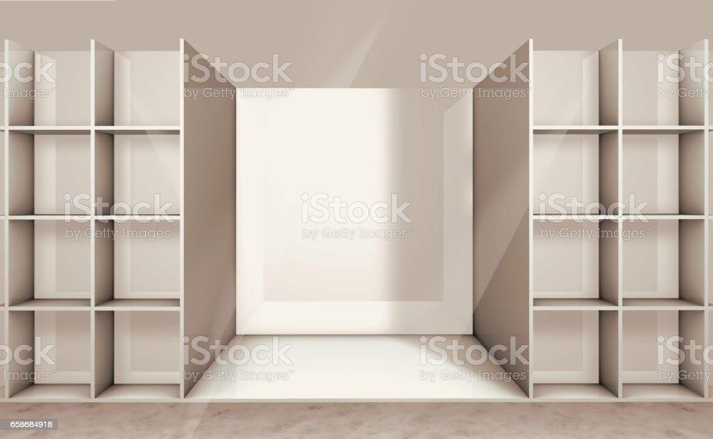 illustration of empty shelf vector art illustration