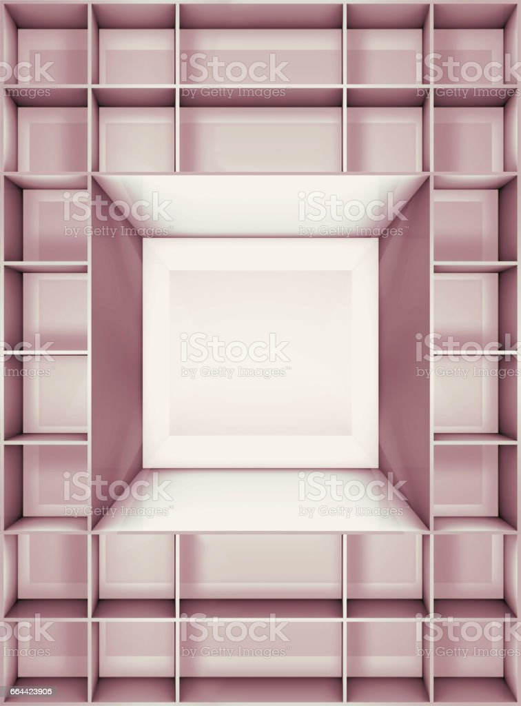 illustration of empty stand vector art illustration