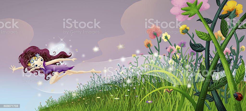 illustration of fairy royalty-free stock vector art