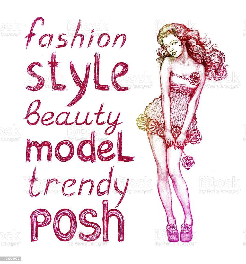 Illustration of female fashion royalty-free illustration of female fashion stock vector art & more images of adult