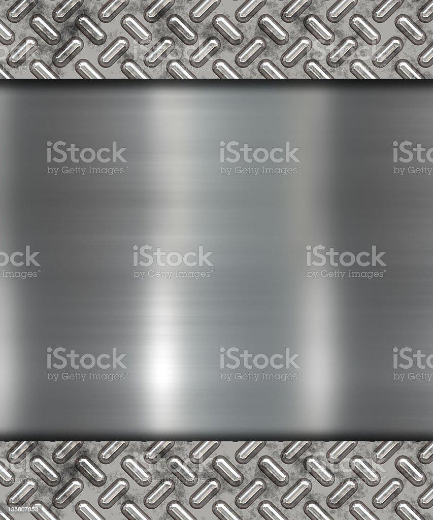 Illustration of gray metal banner royalty-free stock vector art