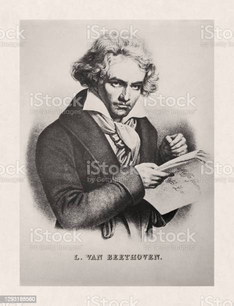 Illustration Of Ludwig Van Beethoven Stock Illustration - Download Image Now