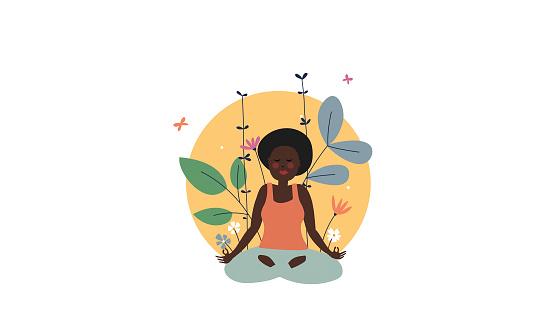 Illustration of meditation practice