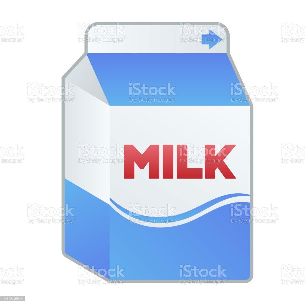 Illustration of milk vector art illustration