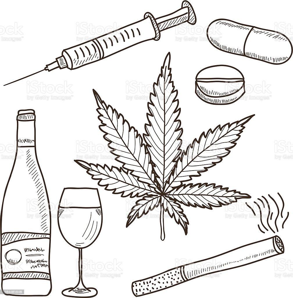 Illustration of narcotics vector art illustration