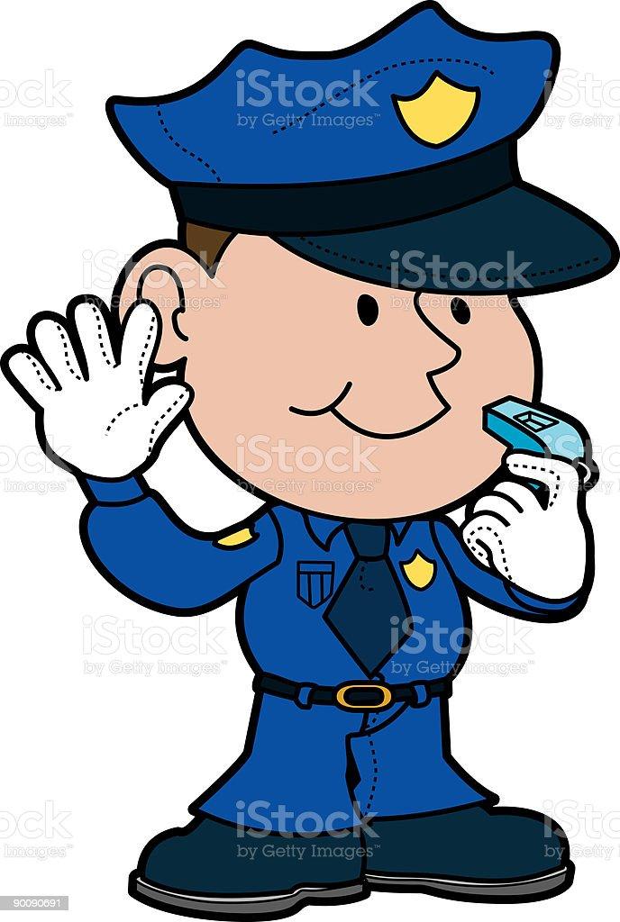Illustration of policeman vector art illustration