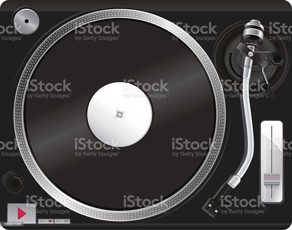 Illustration of record player royalty-free stock vector art