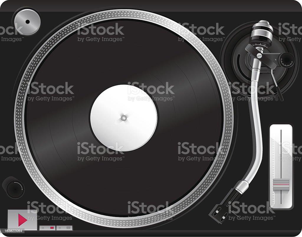 Illustration of record player vector art illustration