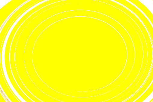 illustration of  rounded shape and slightly elongated in white and yellow background.