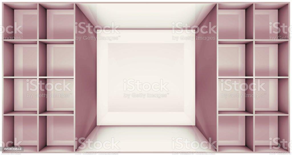 illustration of shelf vector art illustration