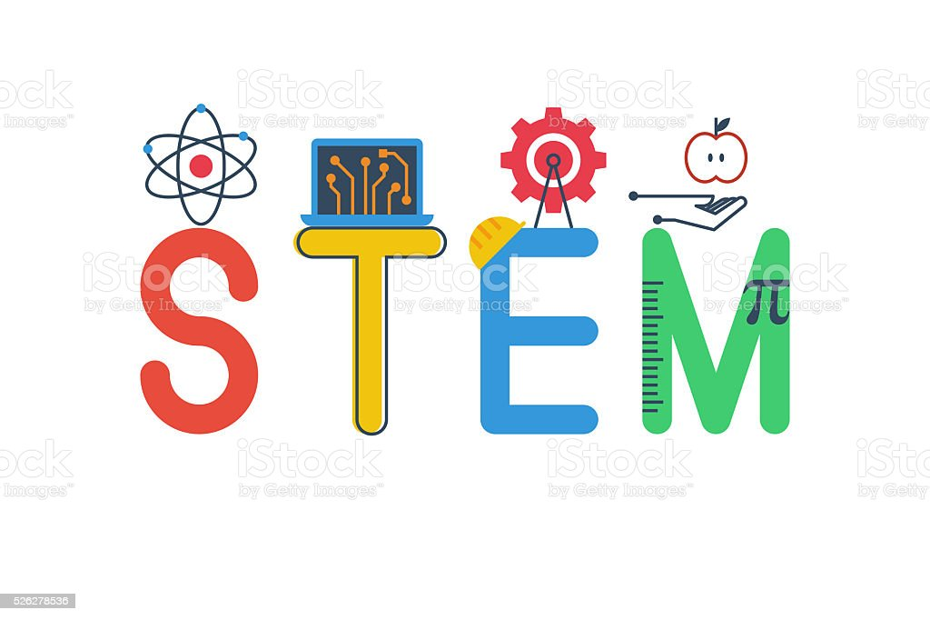 Illustration of STEM vector art illustration