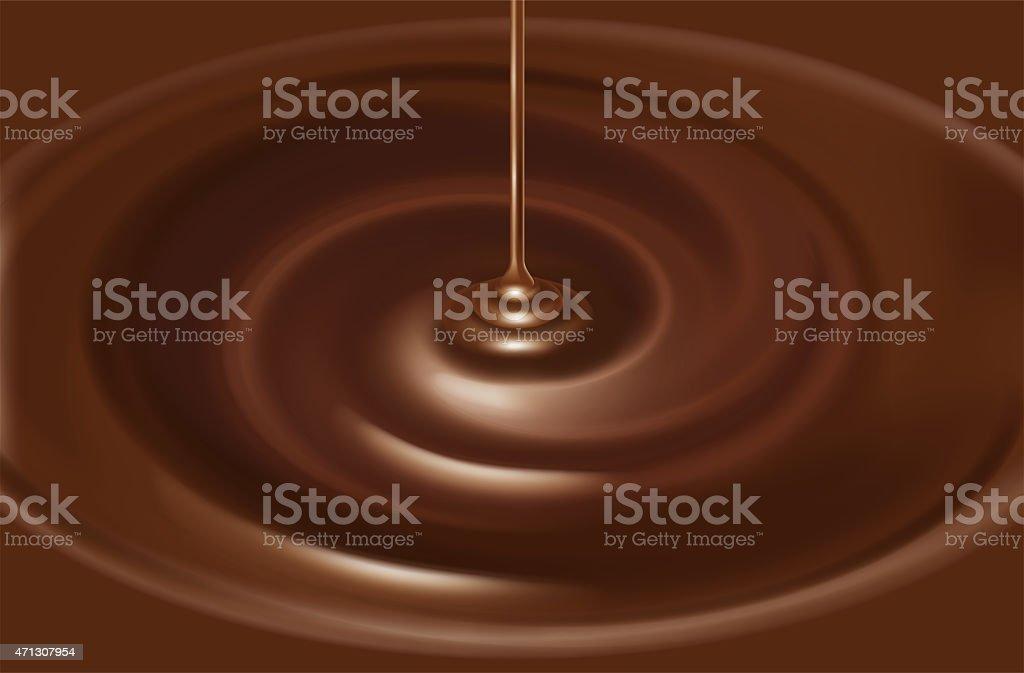 Illustration of the chocolate source. vector art illustration