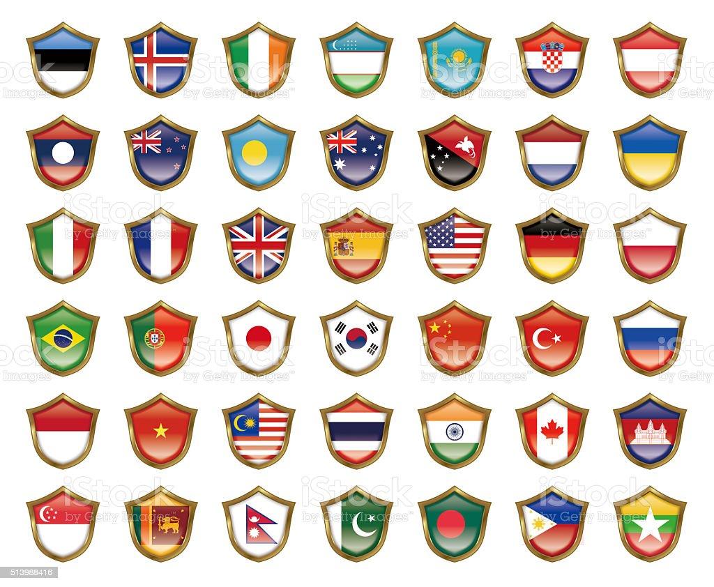 Illustration of the national flag. vector art illustration
