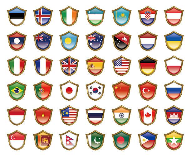 のイラストレーションの国旗。 - アイルランドの国旗点のイラスト素材/クリップアート素材/マンガ素材/アイコン素材