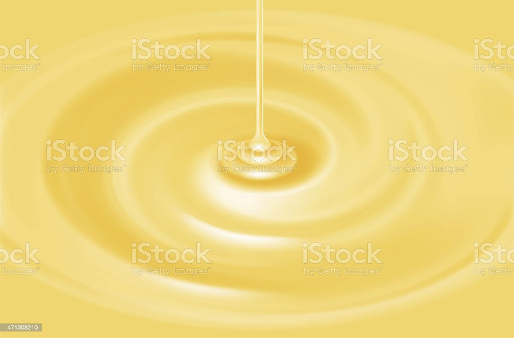 Illustration of the white chocolate source. vector art illustration