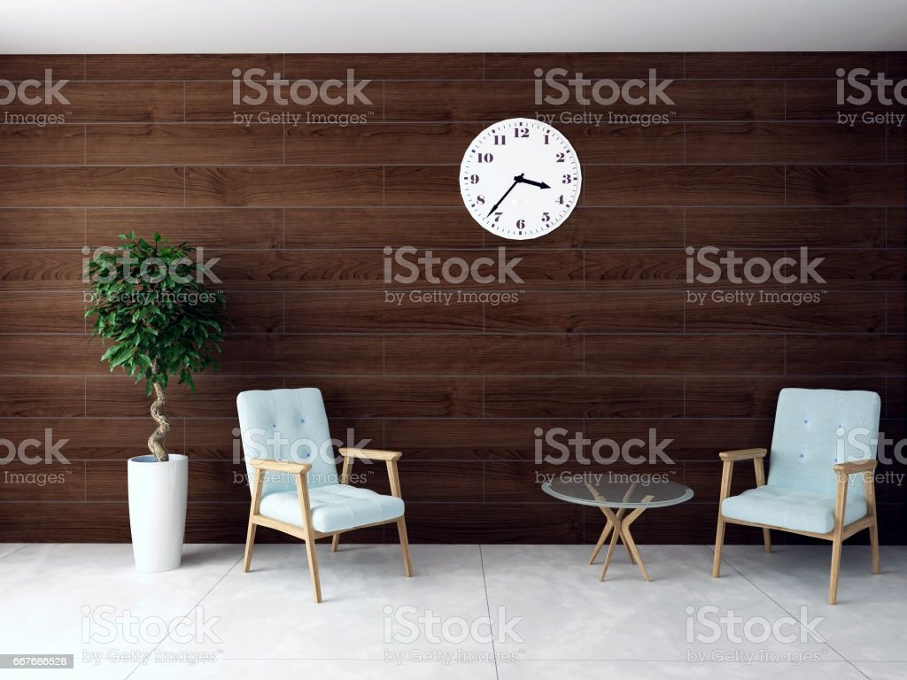 Cool illustration of waiting room with hardwood wall vector art illustration For Your House - Review waiting room chairs Ideas