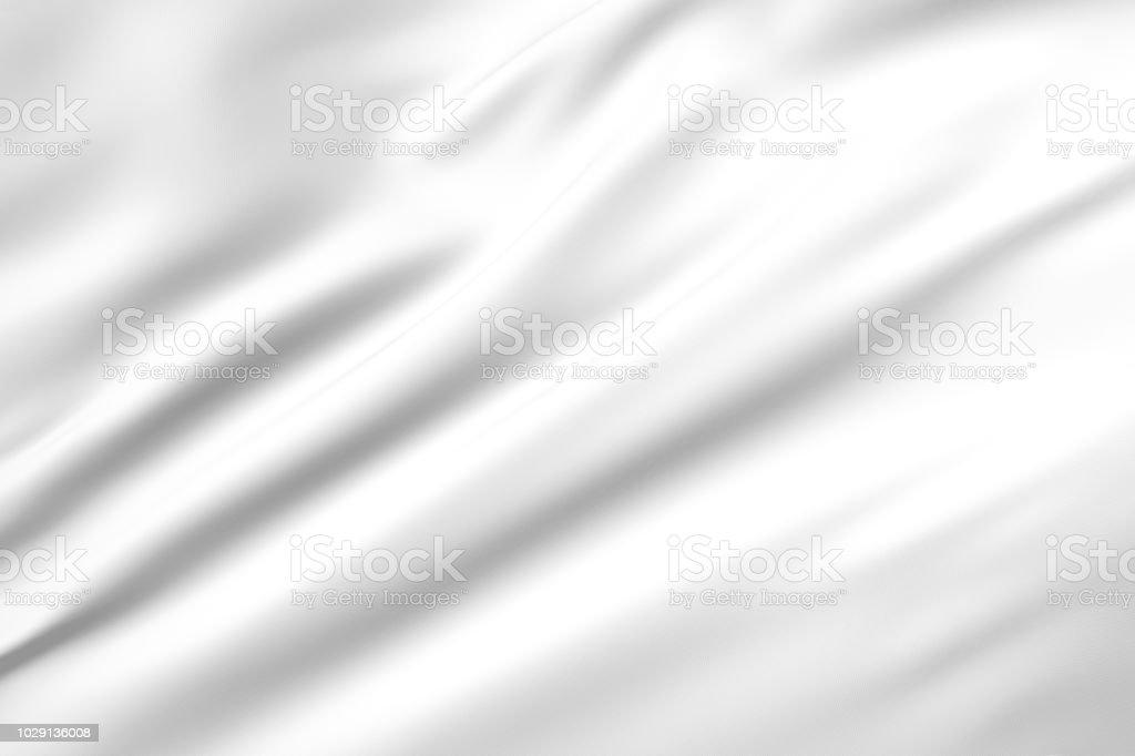 3D illustration of white flag vector art illustration