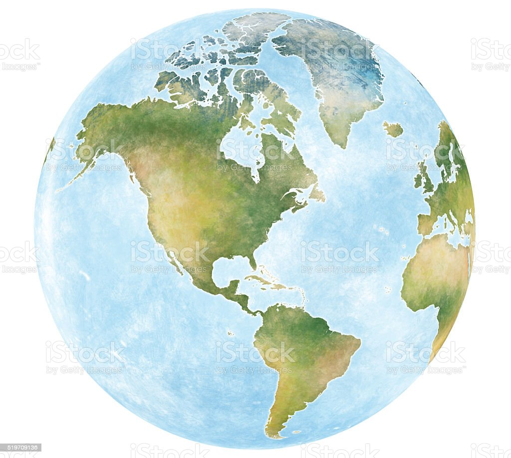 Illustration of world map in america view stock vector art 519709136 illustration of world map in america view royalty free stock vector art gumiabroncs Choice Image
