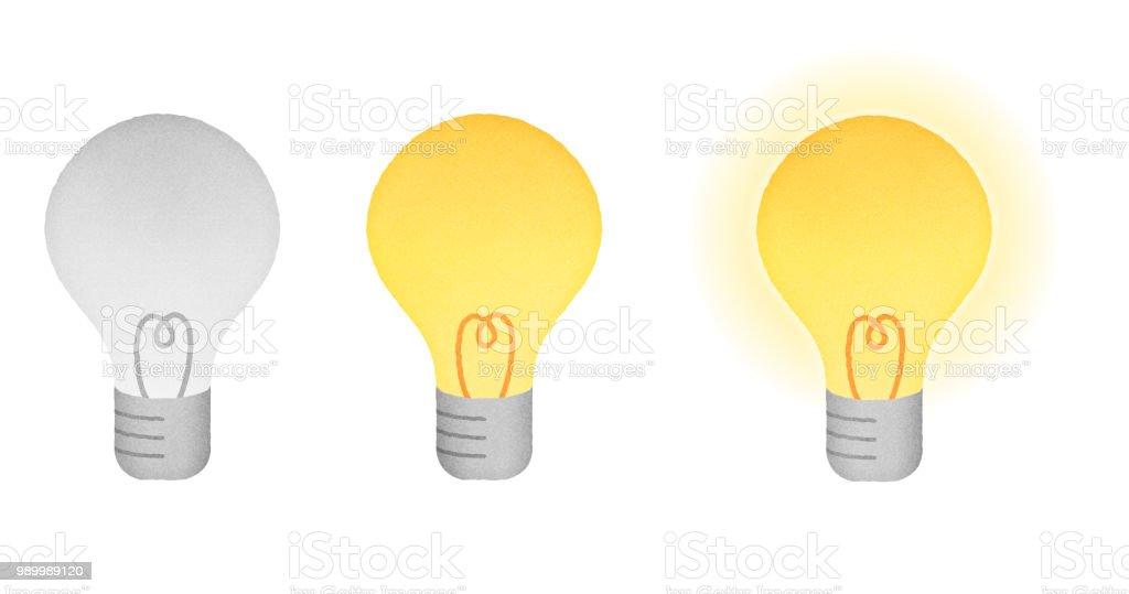 Illustration set of light bulb vector art illustration