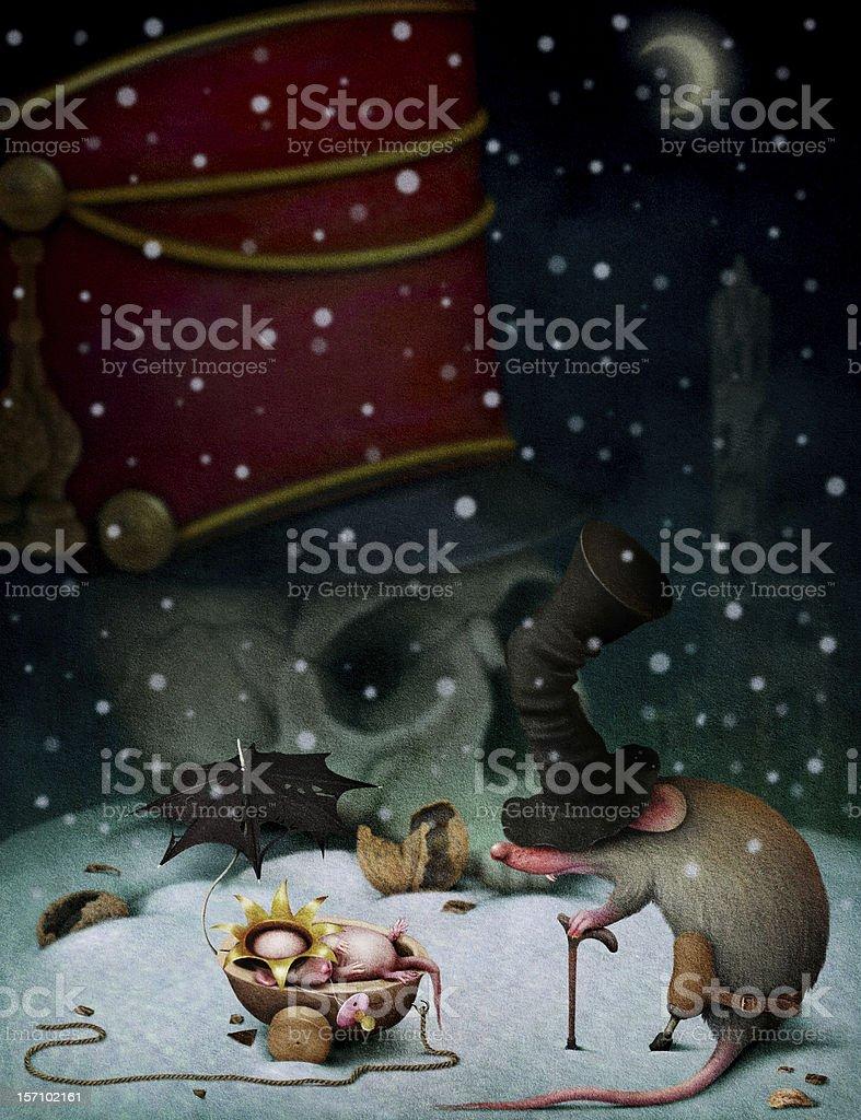Illustration to fairy tale The Nutcracker vector art illustration