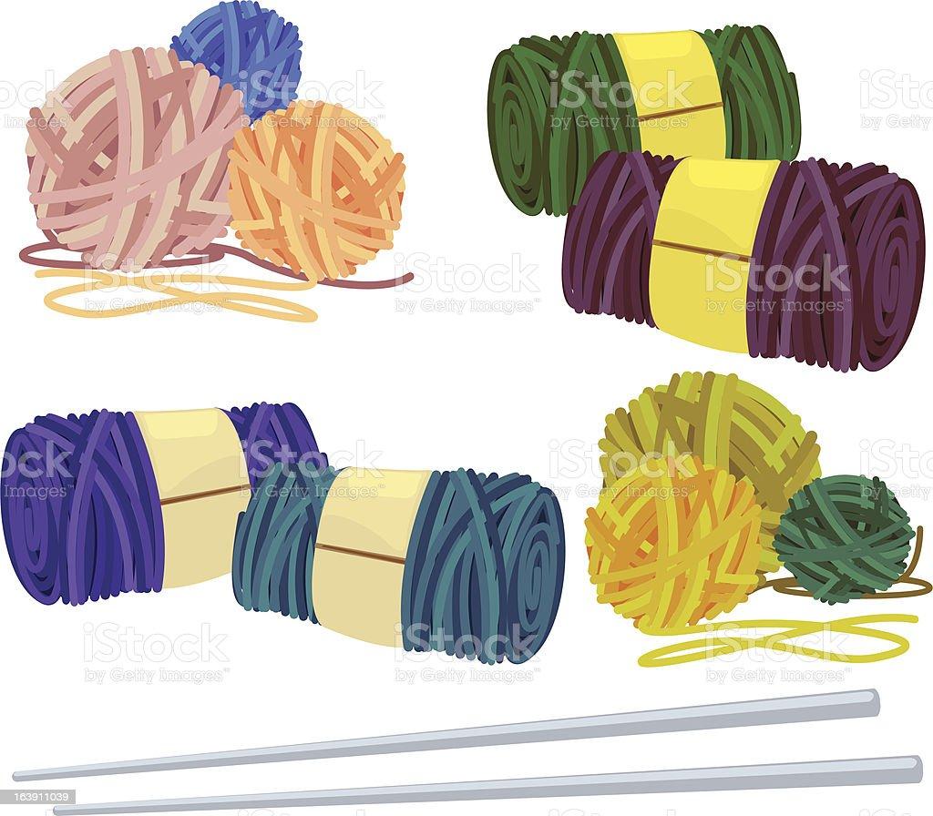 illustration yarn royalty-free stock vector art