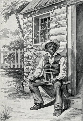 Image from 1897 showing the character Uncle Tom from the book by Harriet Beecher Stowe.