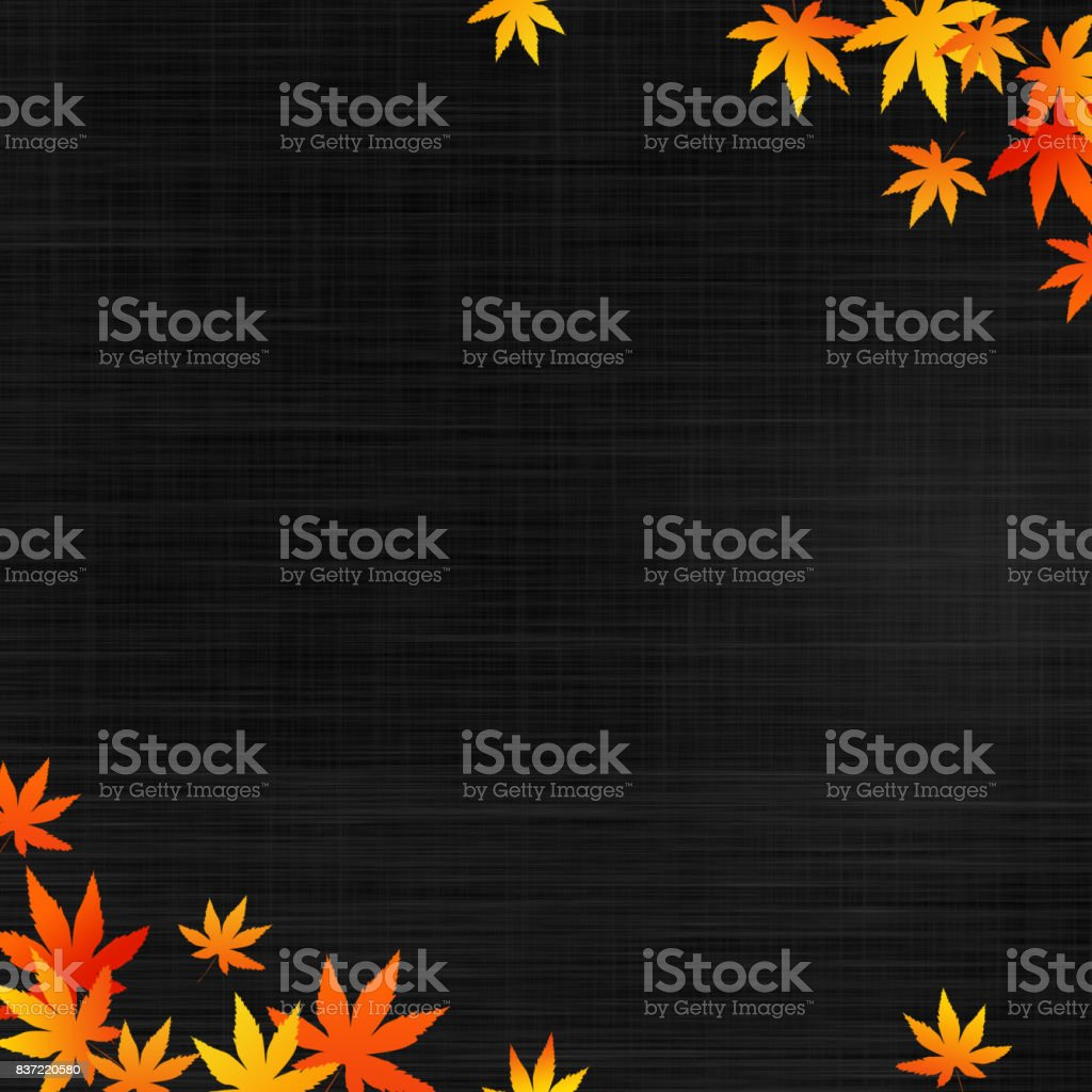 image of autumn, maple leaves (cloth background) vector art illustration