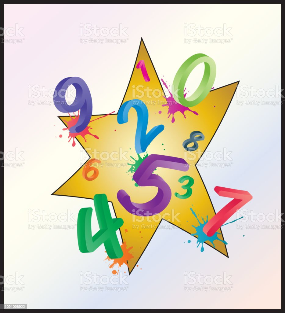 Ilustracion De Imagen De Fondo Colorido Matematicas Con Numeros De