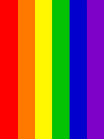 Image of LGBT rainbow flag colours wallpaper background illustration as abstract concept art for lesbian, gay, bisexual, trans / transgender romance, gay LGBT rainbow flag background / backdrop spectrum for same sex couples homosexual relationships