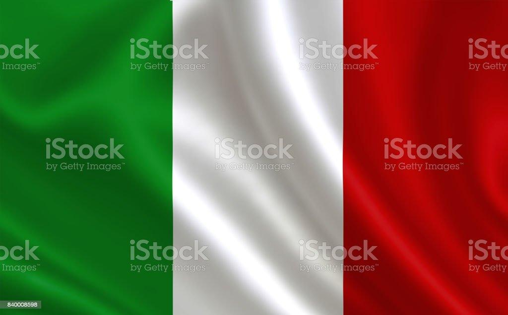 Image of the Italian flag. vector art illustration