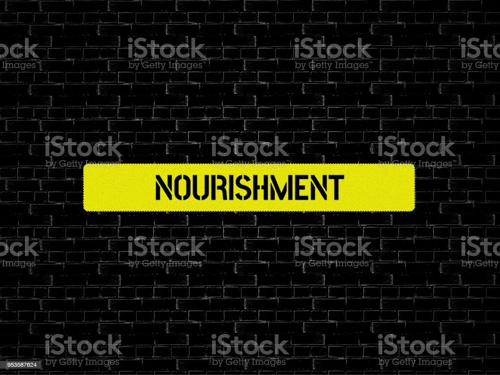 nourishment image with words associated with the topic nutrition