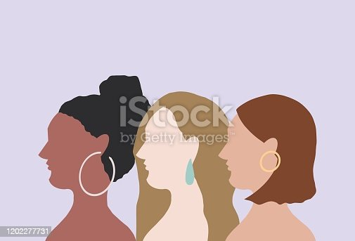 Women, man, friendship, diversity, blue, purple, friends, hair, fashionable, trend, human face