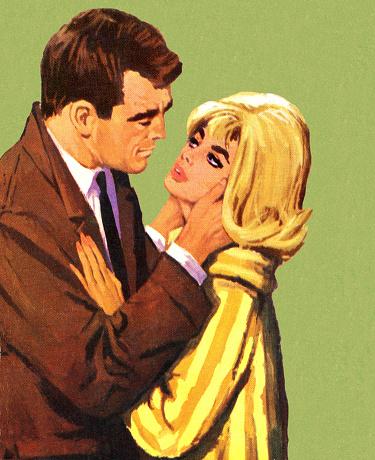 Man Embracing Blonde Woman