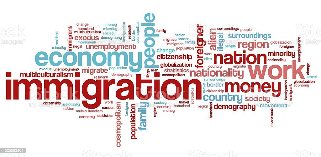 Immigration vector art illustration
