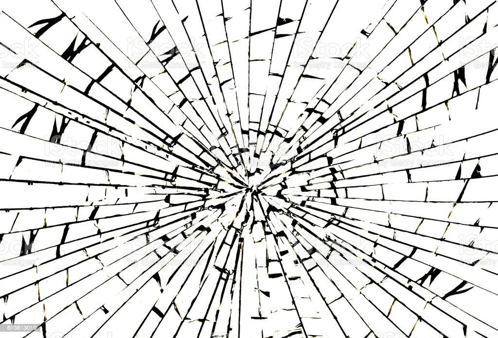 Impact on glass vector art illustration