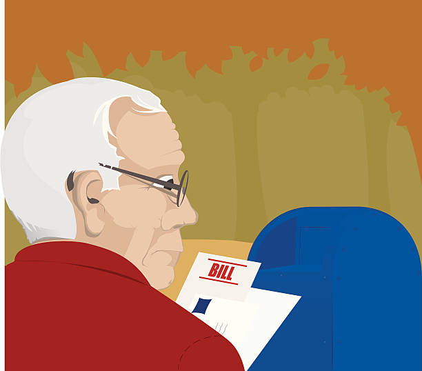 important mail - old man glasses stock illustrations, clip art, cartoons, & icons
