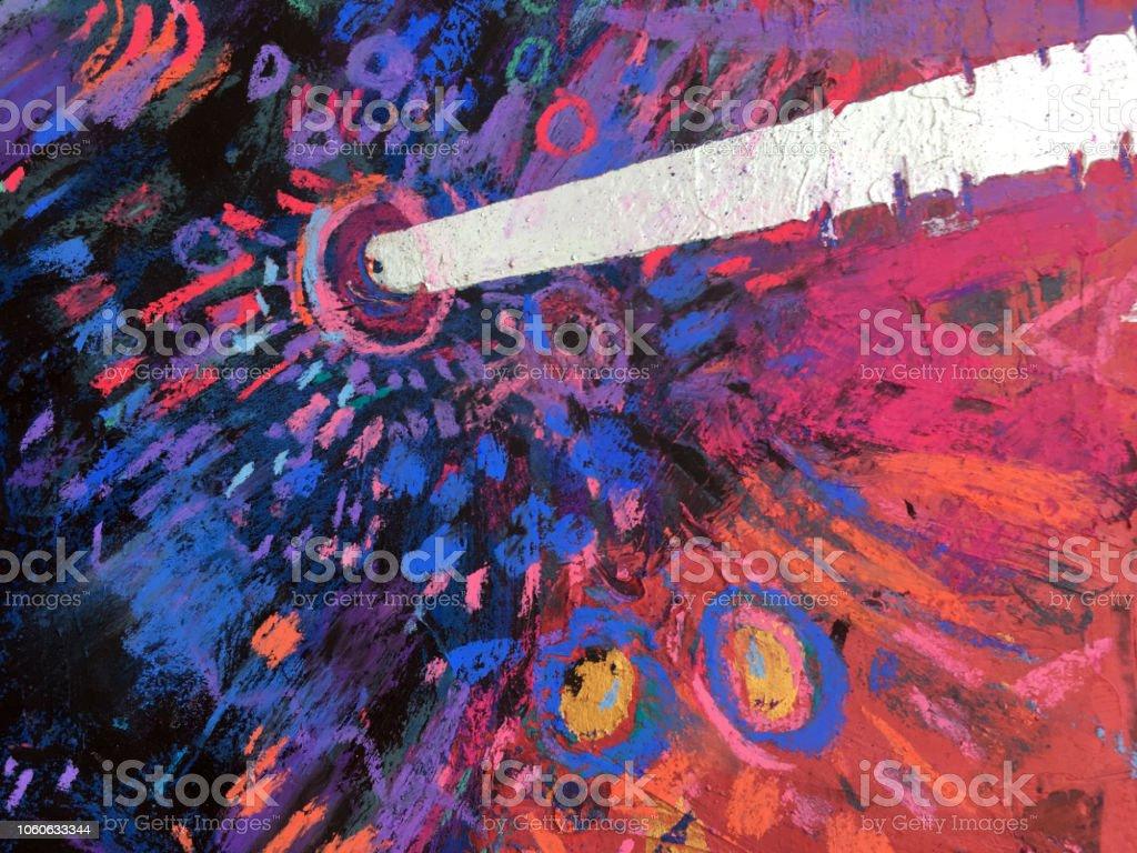 Behang Kleur Eucalyptus : Het patroon van het impressionisme levendige kleur achtergrond