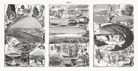 Impressions of Northern, Central and Southern Africa, woodcuts, published 1893