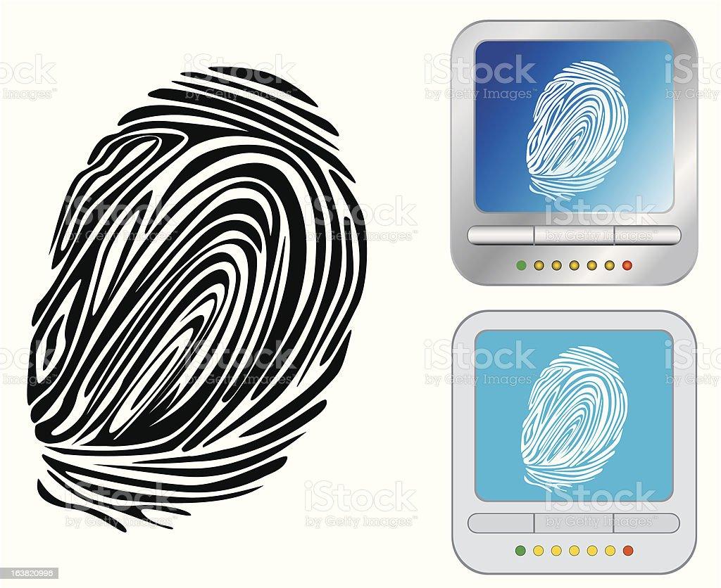 impronta digitale vector art illustration