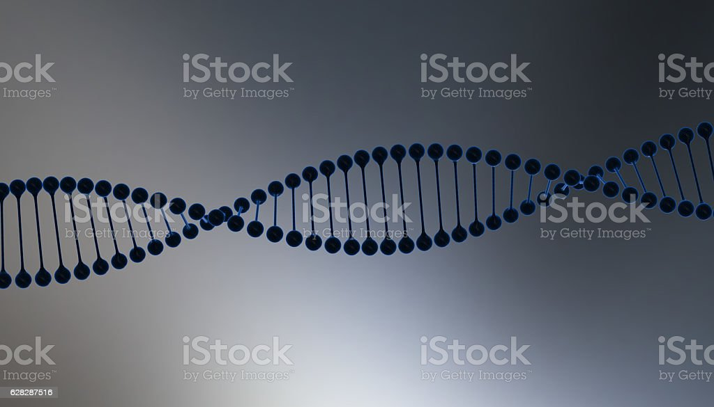 DNA in color background and various material, 3d render illustration vector art illustration