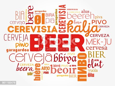 istock BEER in different languages of the world 951193476