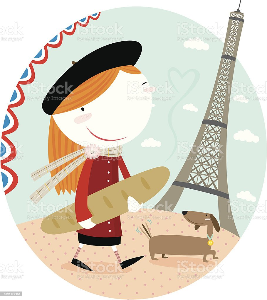 in paris - Royalty-free Adult stock vector