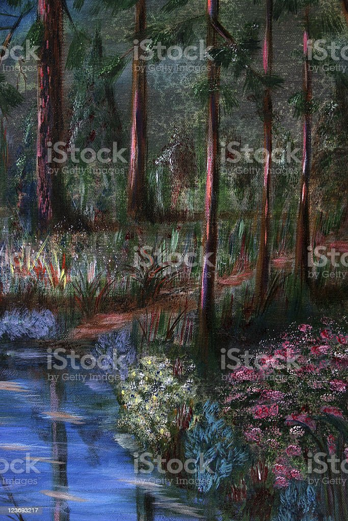 In the forest royalty-free in the forest stock vector art & more images of acrylic painting