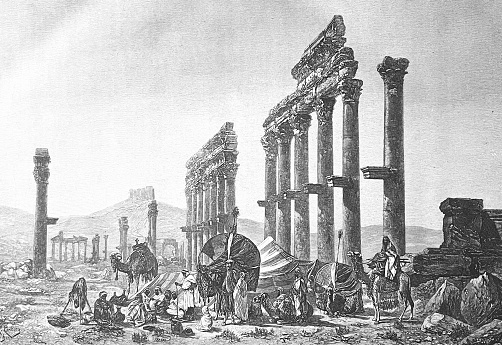 In the ruins of Palmyra