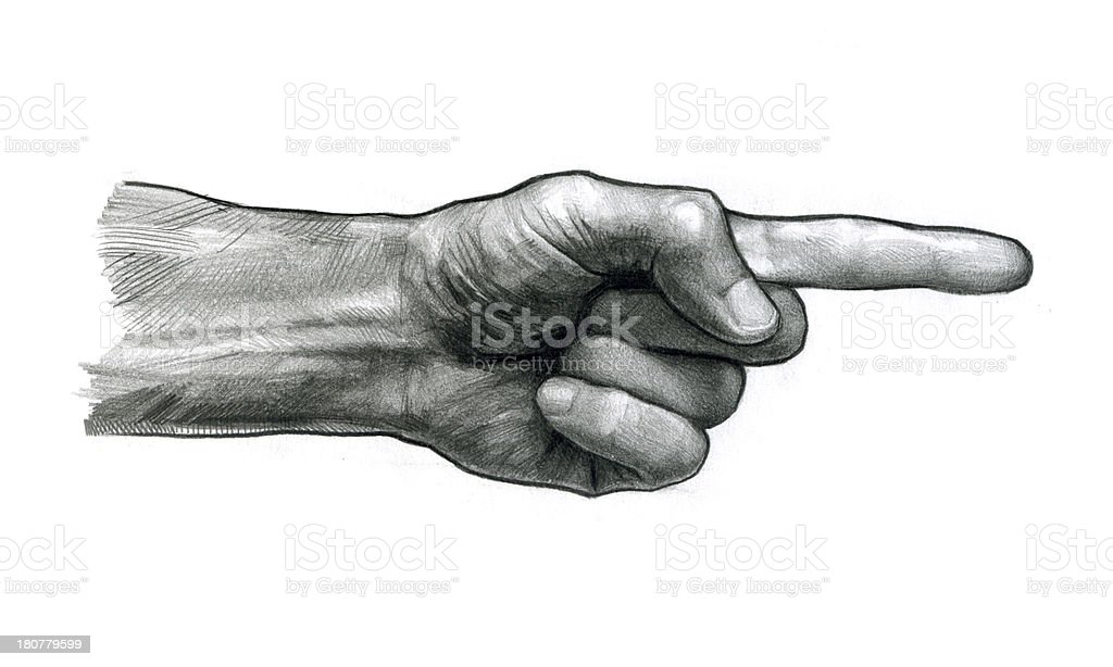index finger R royalty-free stock vector art
